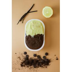 Gelato Artigianale Crema Pasticcera/Cioccolato al latte 500gr