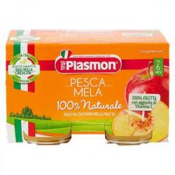 Omogeneizzati PLASMON pesca con mela 100% naturale conf. 104 g x 2 pezzi
