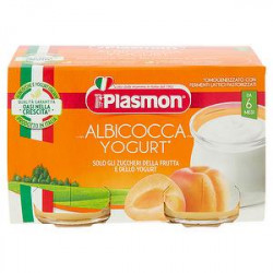 Merenda PLASMON albicocca e yogurt conf. 120g x 2 pezzi