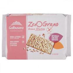 Cracker senza glutine zerograno GALBUSERA integrali con riso soffiato