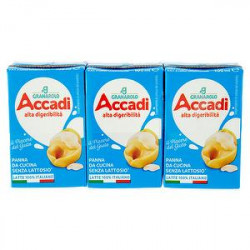 Panna da cucina Accadì GRANAROLO alta digeribilità senza lattosio conf. 100gr x 3 pezzi