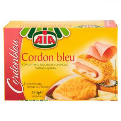 Cordon bleu AIA con cotto di tacchino e formaggio 240gr conf. da 2 pezzi