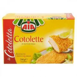 Cotolette di filetti di pollo AIA  280gr conf. da 3 pezzi