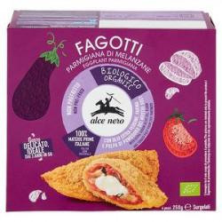 Fagotti bio ALCE NERO parmigiana di melanzane 250gr conf. da 4 pezzi