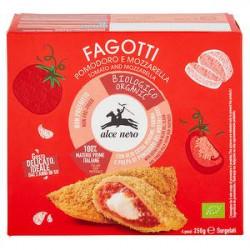 Fagotti bio ALCE NERO pomodoro e mozzarella 250gr conf. da 4 pezzi