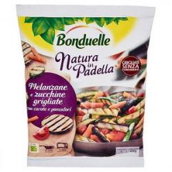 Natura in Padella BONDUELLE melanzane e zucchine grigliate con carote e pomodori 450gr