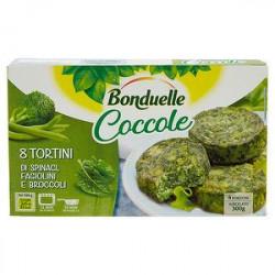 Tortini Coccole BONDUELLE spinaci fagiolini e broccoli 300gr conf. da 8 pezzi