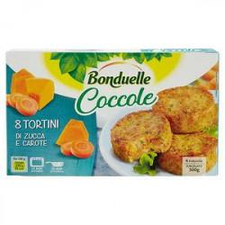 Tortini Coccole BONDUELLE zucca e carote 300gr conf. da 8 pezzi