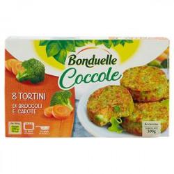 Tortini Coccole BONDUELLE broccoli e carote 300gr conf. da 8 pezzi