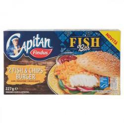 Fish & chips burger Capitan FINDUS 227gr conf. da 2 pezzi