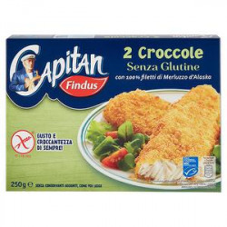 Croccole Capitan FINDUS senza glutine 250gr conf. da 2 pezzi