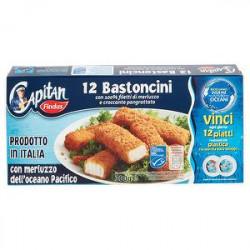 Bastoncini Capitan FINDUS con 100% filetti di merluzzo e croccante pangrattato 300gr conf. da 12 pezzi