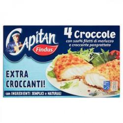 Croccole Capitan FINDUS con 100% filetti di merluzzo e croccante pangrattato 400gr