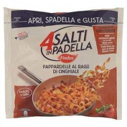4 Salti in Padella FINDUS Pappardelle al ragù di cinghiale 550gr