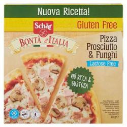 Pizza prosciutto e funghi senza glutine e senza lattosio bontà d'italia SCHÄR 390gr