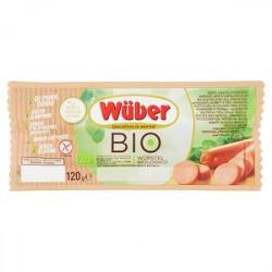 Wurstel bio WUBER di puro suino 120gr