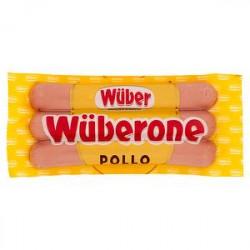 Wurstel di pollo wuberone WUBER 250gr conf. da 3 pezzi