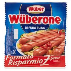 Wurstel WUBER di puro suino formato convenienza 500gr conf. da 7 pezzi