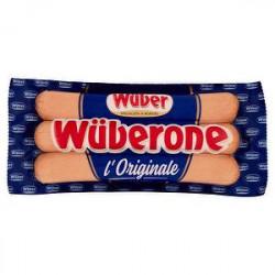 Wurstel di suino wuberone WUBER 250gr conf. da 3 pezzi