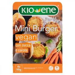 Mini burger vegan senza soia KIOENE con zucca e carote 200gr
