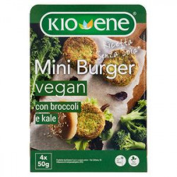 Mini burger vegan senza soia KIOENE con broccoli e kale 200gr