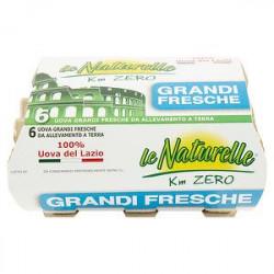 Le Uova del Lazio LE NATURELLE da allevamento a terra conf. da 6 uova