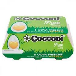 Uova fresche Free COCCODì da allevamento all'aperto conf. da 6 uova