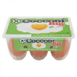 Uova fresche nuova COCCODì allevate a terra conf. da 6 uova