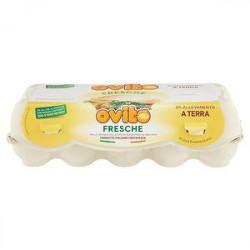 Uova fresche OVITO Fattoria Novelli grandi da allevamento a terra conf. da 10 uova