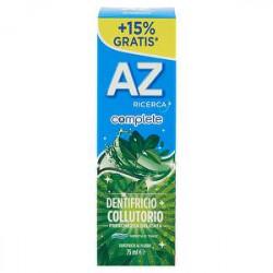 Dentifricio complete AZ premium con collutorio freschezza delicata menta e timo 75ml