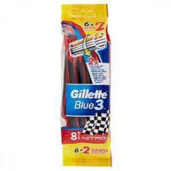 Rasoi usa e getta Blue3 GILLETTE conf. da 6 + 2 pezzi gratis