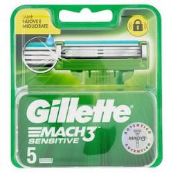 Ricarica rasoio Mach3 GILLETTE sensitive conf. da 5 pezzi