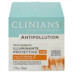 Crema viso illuminante protettivo Antipollution CLINIANS con vitamina C 50ml