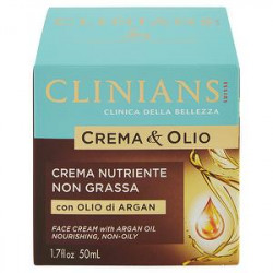 Crema nutriente Crema&Olio CLINIANS con olio di argan 50ml