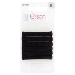 Elastici classic medium Black ELISON conf. da 6 pezzi