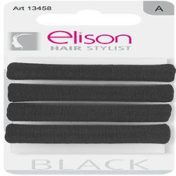 Elastici classic large Black ELISON conf. da 4 pezzi
