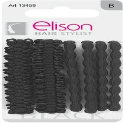 Elastici fantasy medium black ELISON conf. da 3 + 3 pezzi