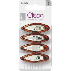 Clic Clac small Classic Turtle ELISON conf. da 4 pezzi