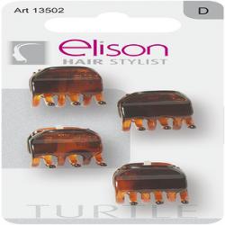 Pinze Mini Classic Turtle ELISON conf. 4 pezzi
