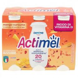 Actimel DANONE mango curcuma con estratto di bacche di goji conf. 100gr x 6 pezzi