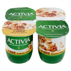 Yogurt Activia Fibre DANONE avena e noci conf. 125gr x 4 pezzi