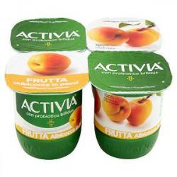Yogurt Activia Frutta DANONE albicocca conf. 125gr x 4 pezzi