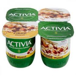 Yogurt Activia Fibre DANONE cocco e muesli conf. 125gr x 4 pezzi