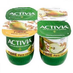 Yogurt Activia Fibre DANONE pera e cereali conf. 125gr x 4 pezzi