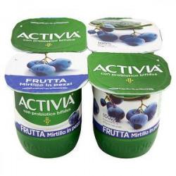 Yogurt Activia Frutta DANONE mirtillo conf. 125gr x 4 pezzi