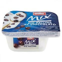 Crema di yogurt Mix MüLLER cocco più cereali al cioccolato 150gr