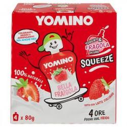 Yomino 100% naturale YOMO fragola conf. 80gr x 4 pezzi