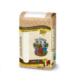 Farina di grano tenero Bio TRE GRAZIE macinata a pietra 1kg