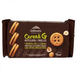 Cereali G Integrali GALBUSERA con deliziosa crema gianduia nero 160gr