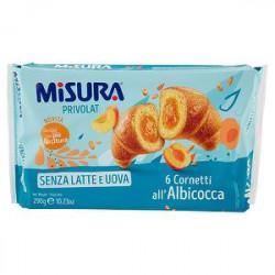 Cornetti Privolat MISURA all'albicocca senza latte e uova 290gr conf. da 6 pezzi